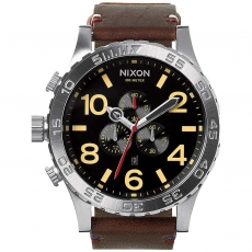 Часы NIXON 51-30 Chrono LEATHER  BLACK/BROWN