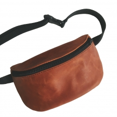 Кожаная поясная сумка Nikita Gruzovik Waistbag Brown