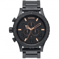 Часы NIXON 51-30 Chrono ALL BLACK/ROSE GOLD