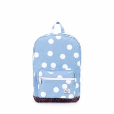 ������ Herschel Pop Quiz Youth Chambray/White Polka Dot/Leopard/White Rubber Backtab