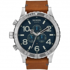 Часы NIXON 51-30 Chrono LEATHER  NAVY/SADDLE