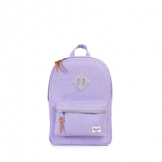 ������ ������� Herschel Heritage Kids Mauve Crosshatch/3M/Tan Pebbled Leather Zipper Pullers