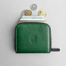 Кожаный кошелек HANDWERS Wallet x CLIFF Green