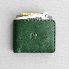 Кожаный кошелек HANDWERS Wallet x AMBIT Green