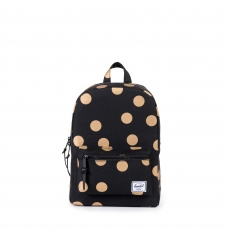 ������ ������� Herschel Settlement Kids Black/Gold Polka Dot/Black Rubber Backtab/Black Pebbled Zipper Pullers