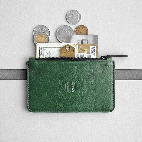 Кожаный кошелек HANDWERS Small Wallet x FILLER Green