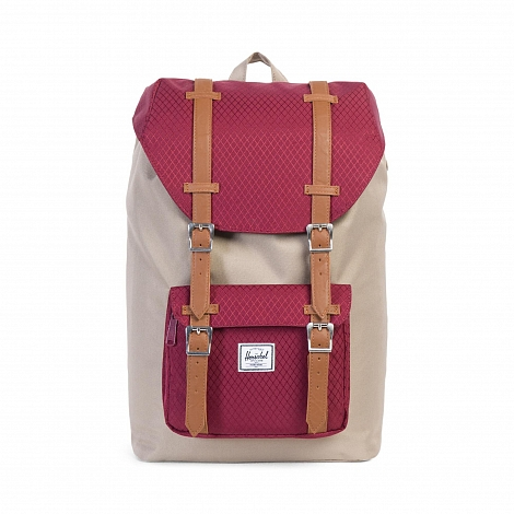 Рюкзак Herschel Little America Mid-Volume Brindle / Windsor Wine / Tan Synthetic Leather