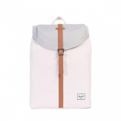 Рюкзак HERSCHEL POST MID-VOLUME Cloud Pink / Ash / Tan Synthetic Leather