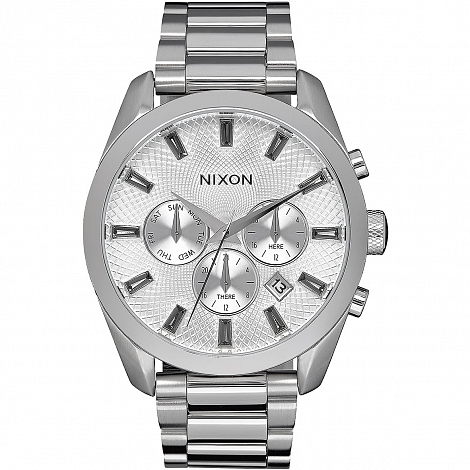 Часы NIXON BULLET CHRONO CRYSTAL ALL SILVER