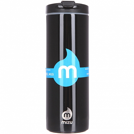 Термокружка MIZU TRAVEL MUG A/S Glossy Black LE