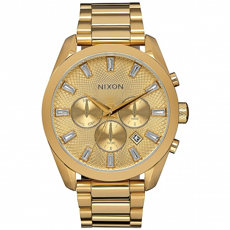 Часы NIXON BULLET CHRONO CRYSTAL ALL GOLD