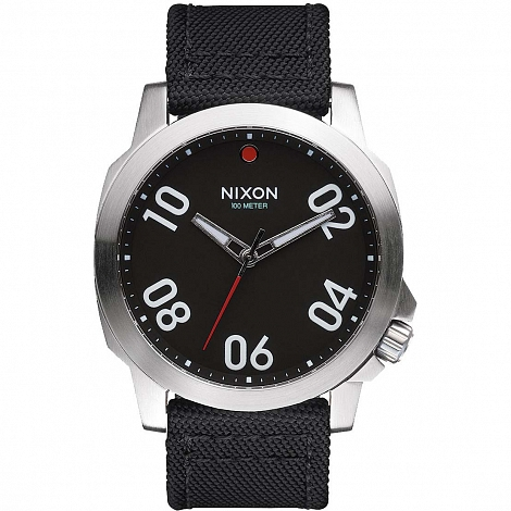 Часы NIXON RANGER 45 NYLON BLACK/RED